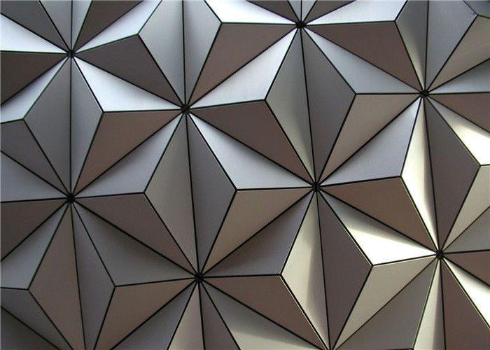 3d Aluminum External Wall Cladding Pvdf Coated With Silver Grey Wall Cladding External Wall Cladding Aluminium Cladding