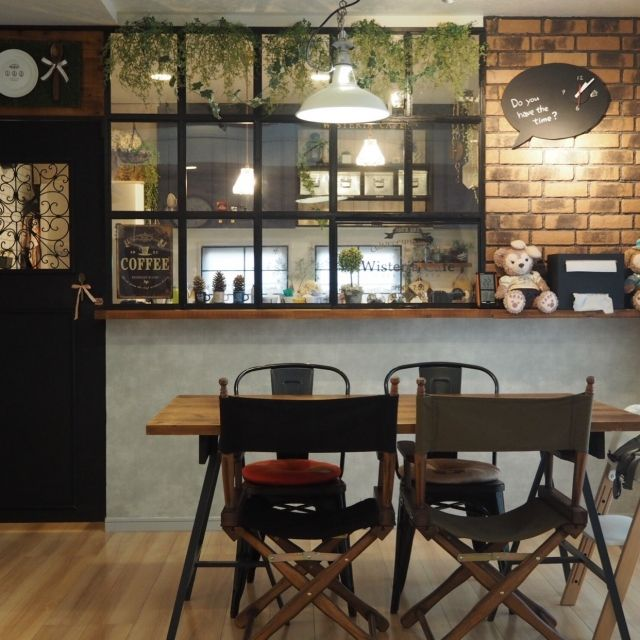 15 Extraordinary Modern Industrial Kitchen Interior Designs: 黒板風 時計/ダイニングテーブルDIY/ブログ更新♡/ブルックリンスタイル/DIY…などのインテリア実例 -2017