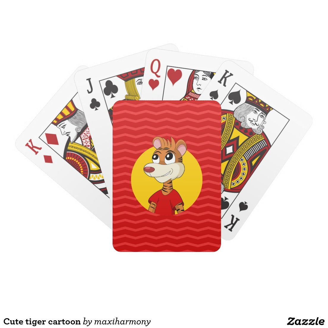 Cute Tiger Cartoon Deck Of Cards Gifts For Kids Deck Of Cards