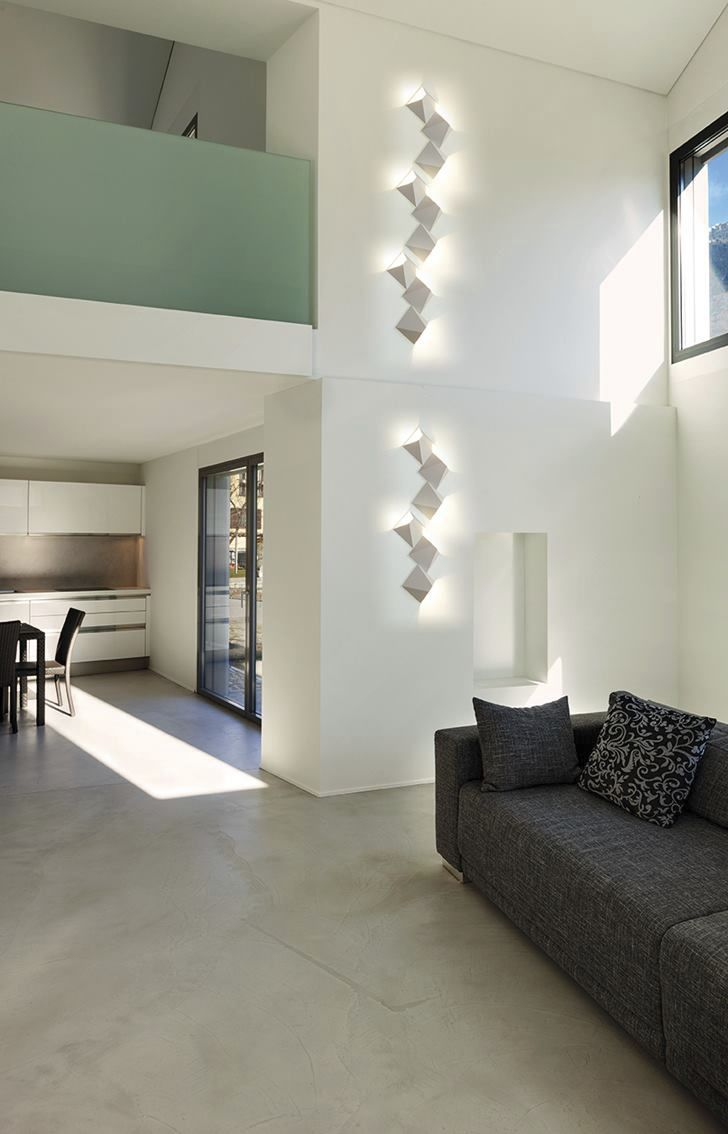 Contemporary wall light / metal / square / LED - MATS 4565 by S ...