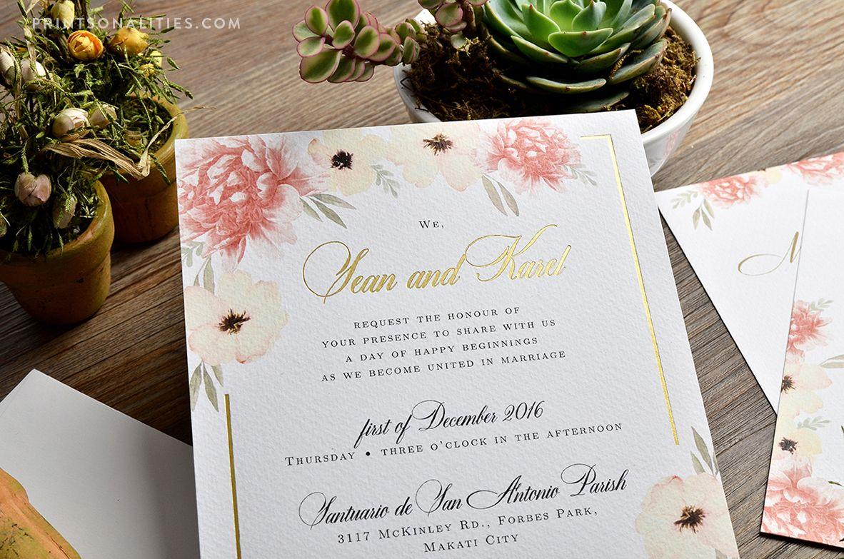 Sean & Karel Wedding Invitation | Custom Invitations by ...