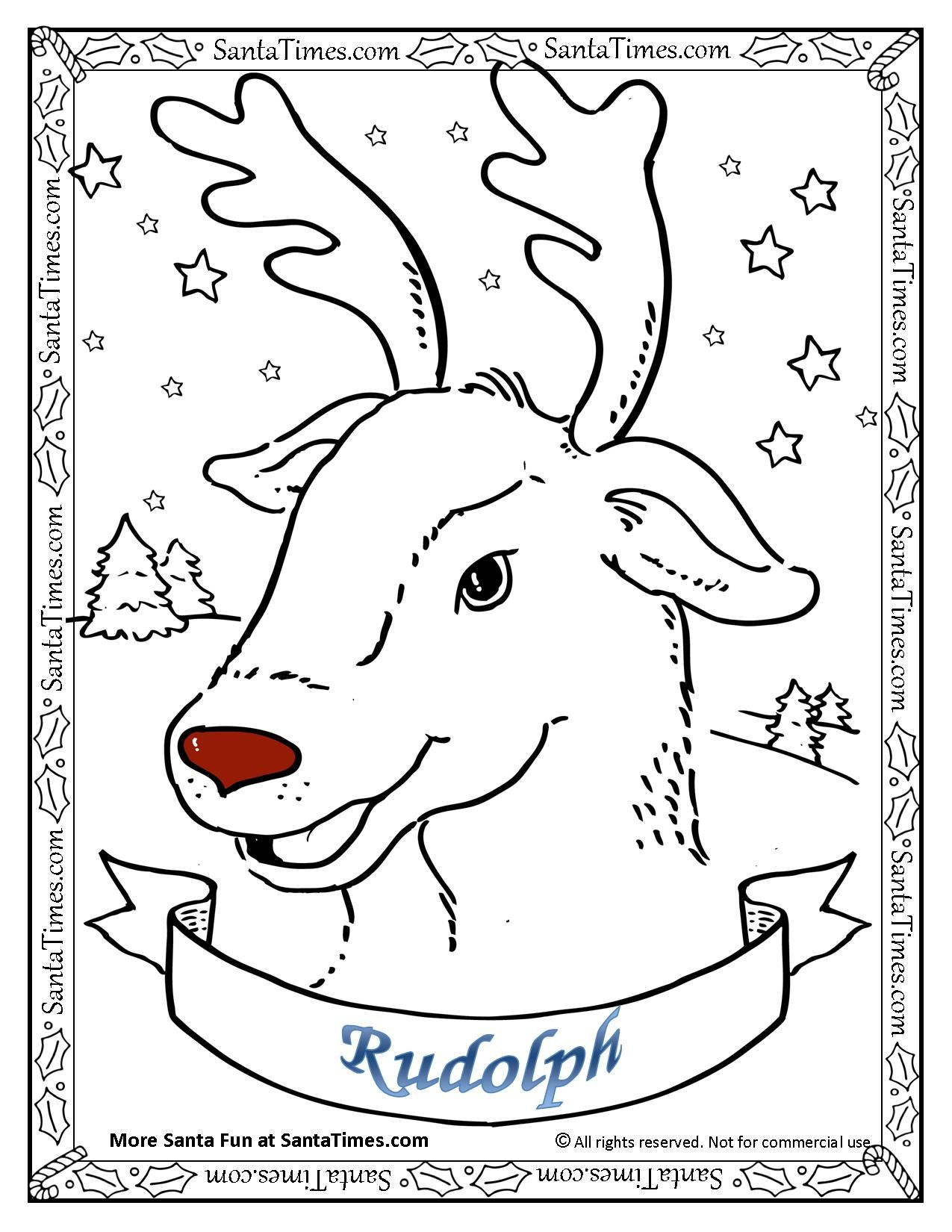 Rudolph the Red Nosed Reindeer coloring Page --> There\'s more fun ...