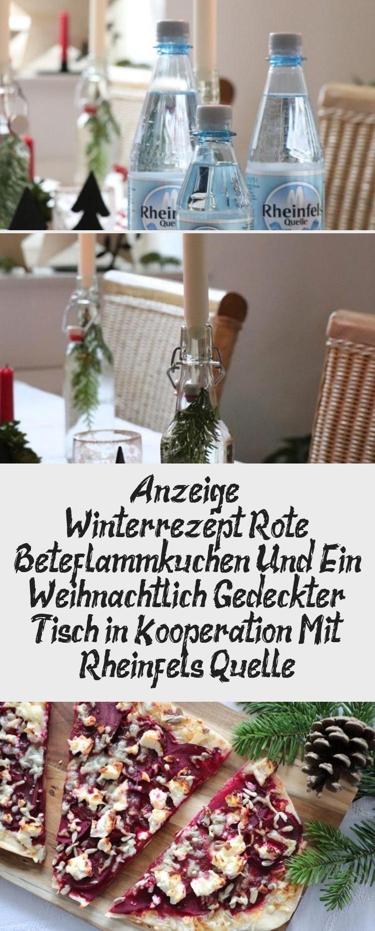 Photo of Werbung – Winterrezept: Rote-Bete-Tarte-Flambée und ein Weihnachtstisch …… …