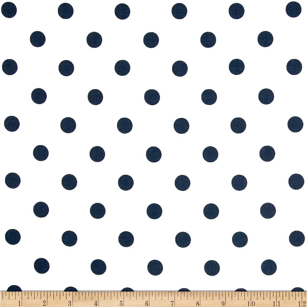 Premier Prints Polka Dots White/Navy from @fabricdotcom Screen ...