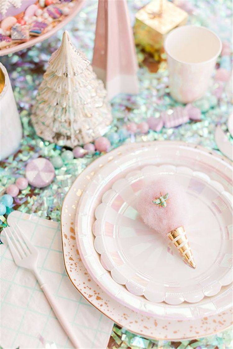 Pink Table Seating Sets Ideas Pink Christmas Table Christmas Table Decorations Christmas Party Themes