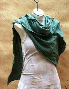 Desert Wasteland Dark Tan Cotton Scarf Wrap, Drape Wrap Shoulder Cowl, Moyamensing post apocalyptic lightweight peasant shemagh