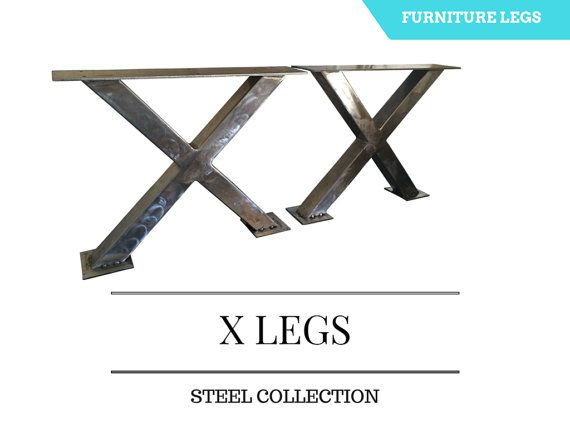 Metal Legs For Table X Legs Steel Table Base By Secondchancepallet Metal Table Legs Steel Table Base Steel Table