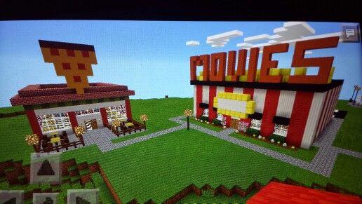 Minecraft Movie Theatre Pizza Shop Minecraft Architecture Minecraft Fun