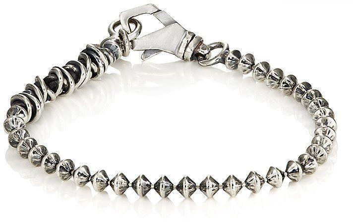 Emanuele Bicocchi Mens Spin-Top-Shaped Ball-Chain Bracelet ul40QEcDX