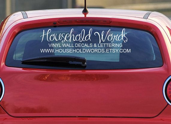 Custom Window Decals For Car Your Logo By HouseHoldWords On Etsy - Vinyl decal stickers for carsbestvinyl stickers for cars ideas on pinterest vinyl car