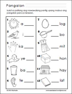 Isulat Ang Pantig 1 Elementary Worksheets Kindergarten Reading Worksheets Kindergarten Worksheets