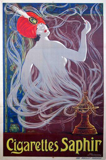 Stephano, Cigarettes Saphir, 1900