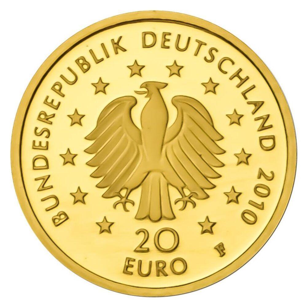 Eiche F Deutscher Wald 1 2010 20 Euro Gold Ausgaben In 2020 Deutscher Wald Euro Bucher