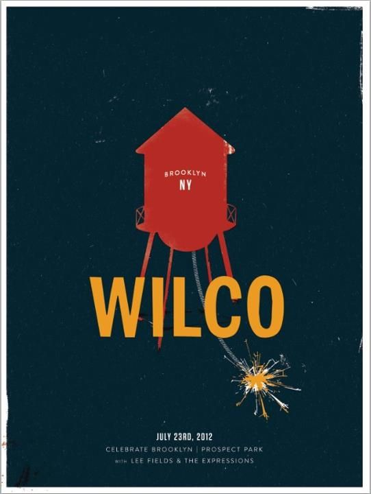 Wilco New York Graphic Fun Music Poster Concert Posters