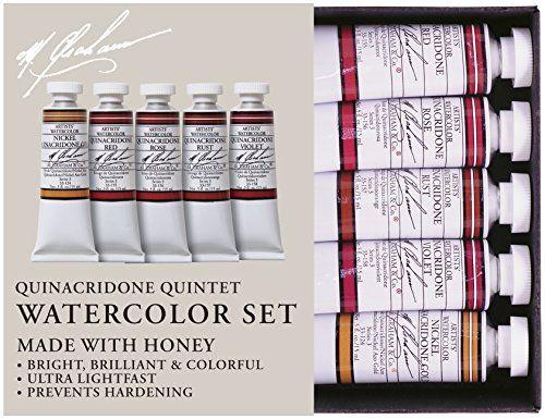 M Graham 1 2 Ounce Tube Watercolor Paint Set Quinacridone