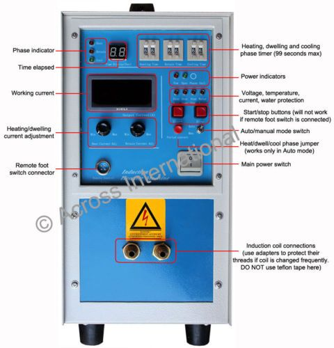 15kw 30 80khz All Solid State Induction Heater Heating Melting