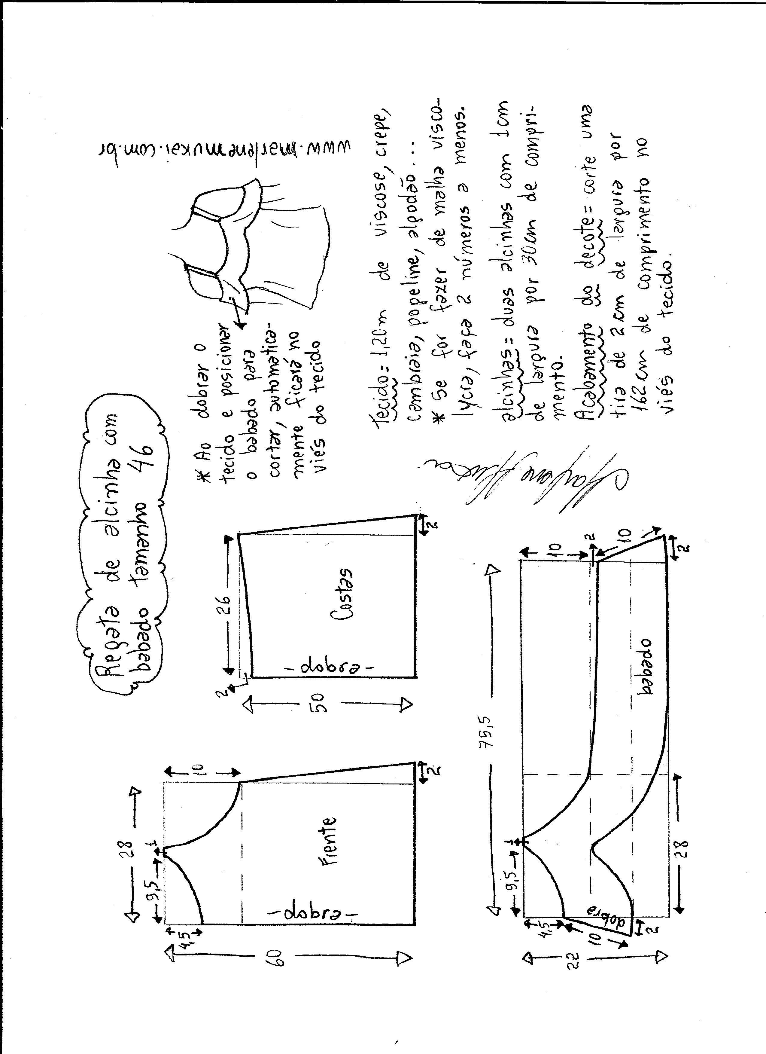 Patrón Blusa hombros descubiertos con volante   Tip de costura 2 ...