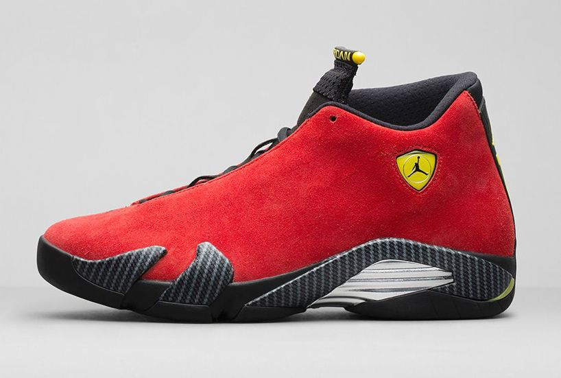 ferrari air jordan 14 retro 'challenge red' nike basketball sneakers
