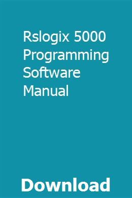 Rslogix 5000 Programming Software Manual pdf download #programingsoftware