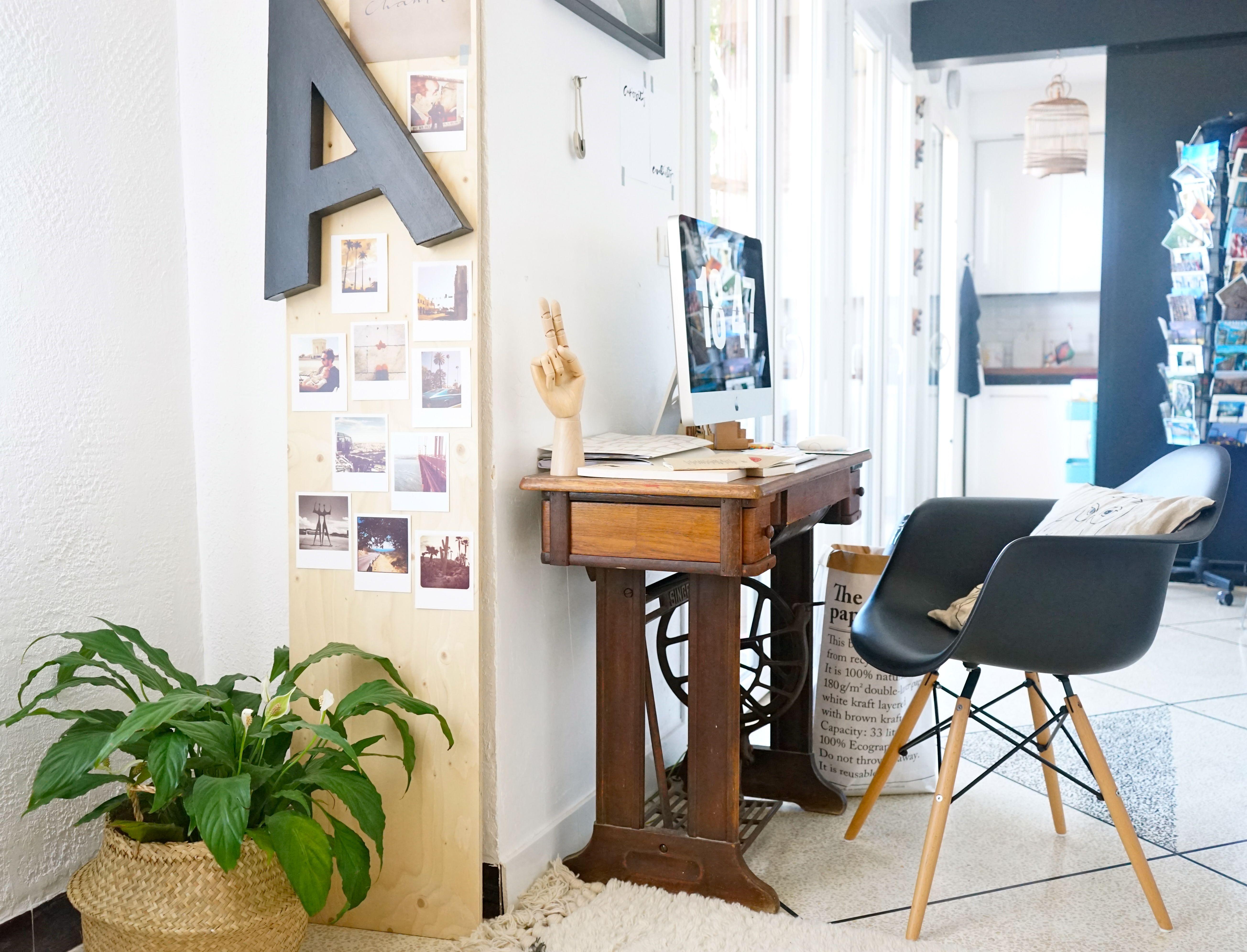 Coin bureau dans salon home office façons daménager un joli