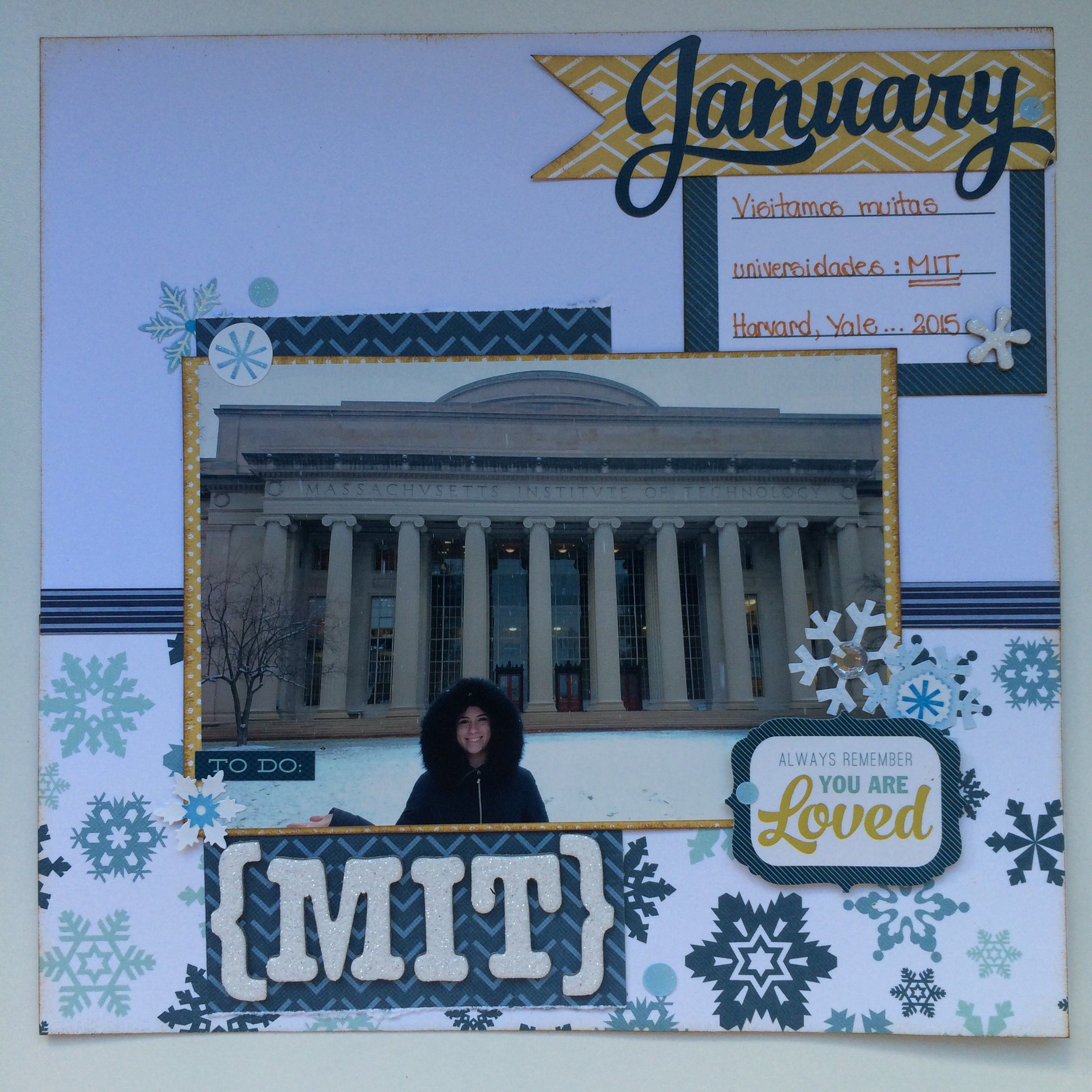 Mit scrapbook layout