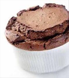 Chocolate Banana Souffles (under 100 calories per serving)