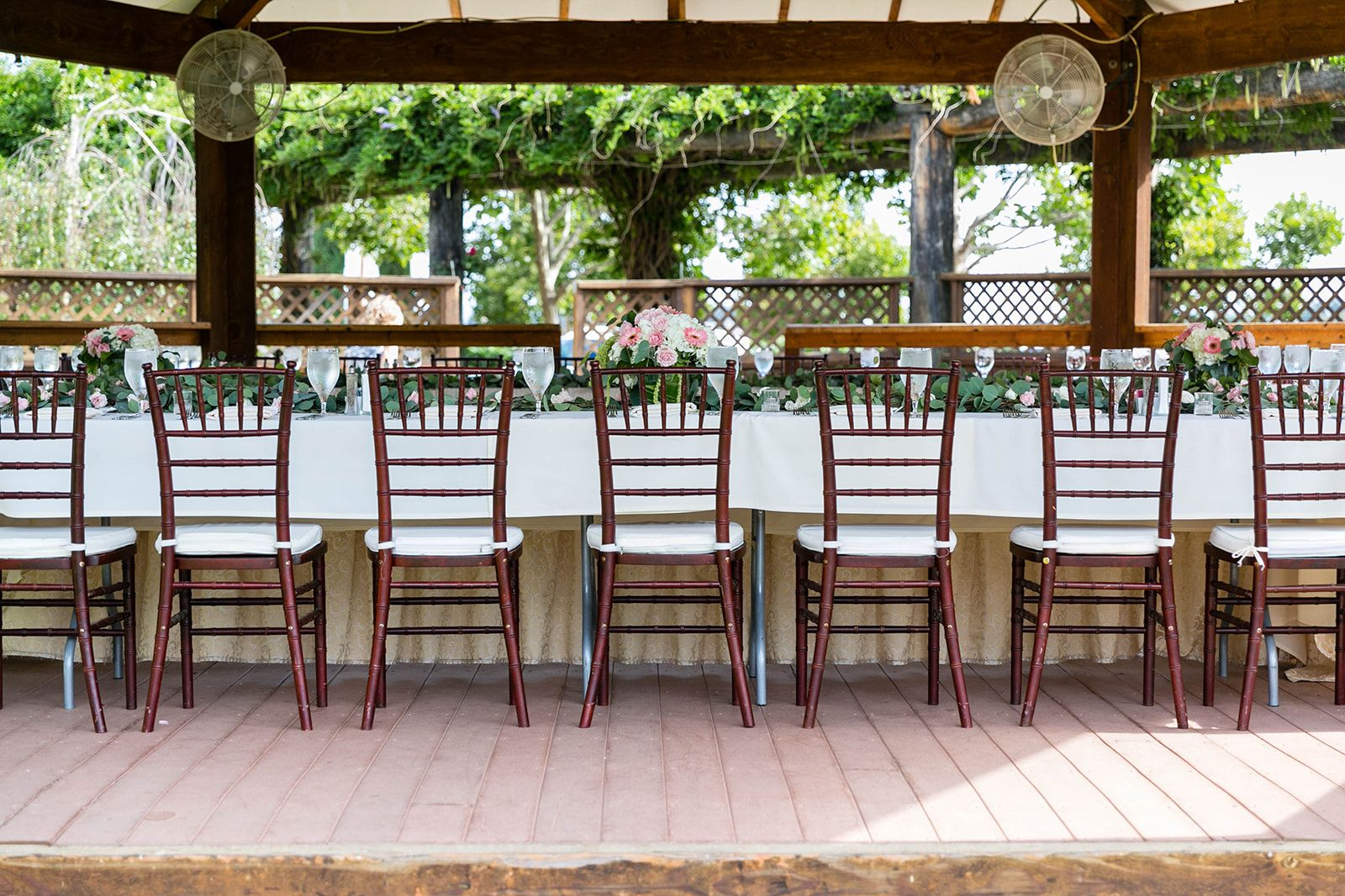 Reception area South Coast Winery Wedding Venue in