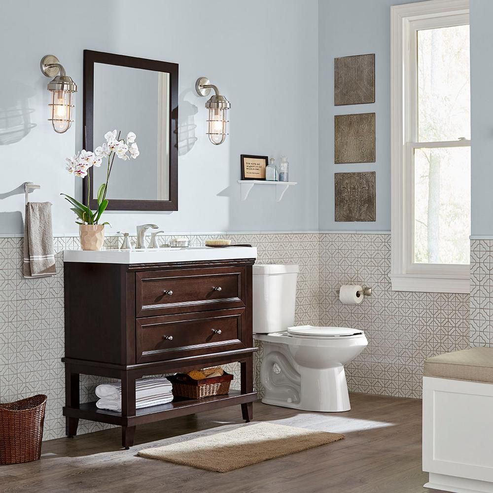 Home Decorators Collection Teasian 36 In. Vanity In Chocolate With