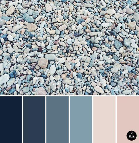 eine von Felsen inspirierte Farbpalette #peachideas
