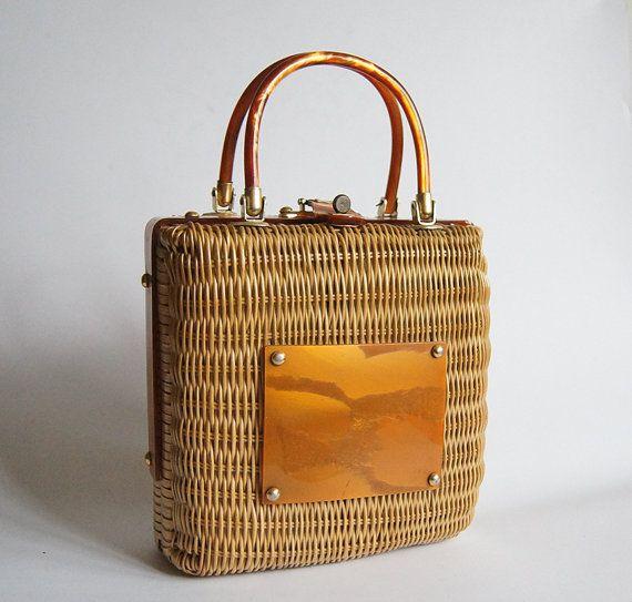 super economico brillantezza del colore Regno Unito borse vintage di midollino - Cerca con Google | AMARCORD ...