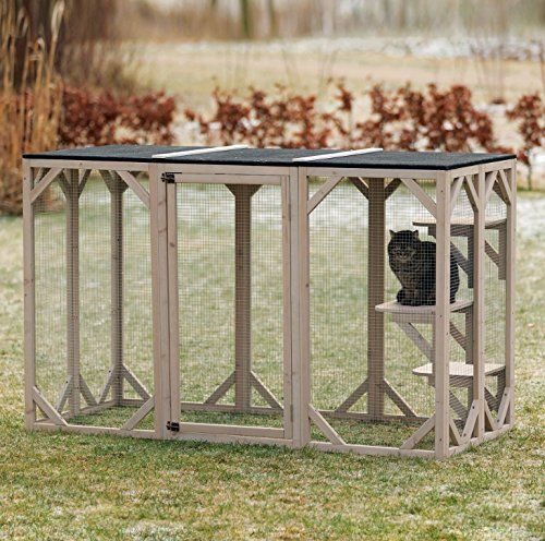 AmazonSmile : Trixie Pet Products Wooden Outdoor Cat Run