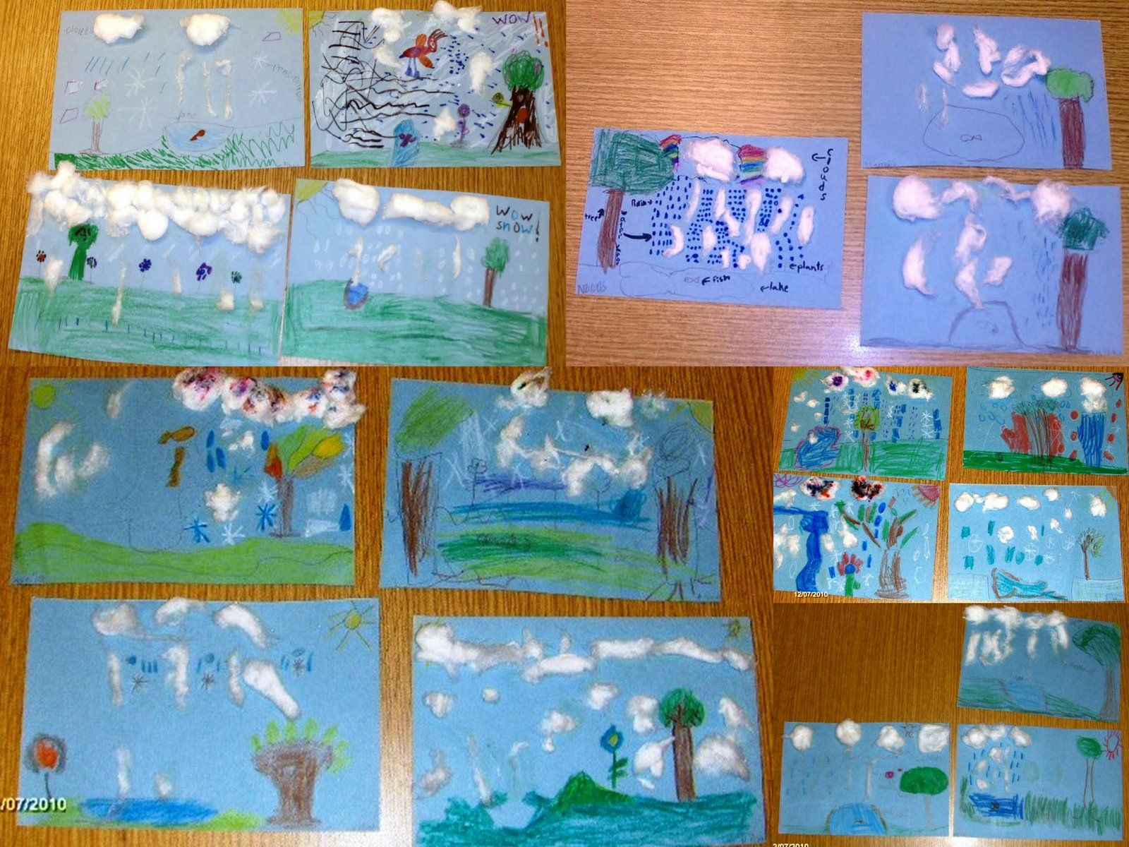 Art Amp Painting At Wbr School 1st Grade Water Cycle