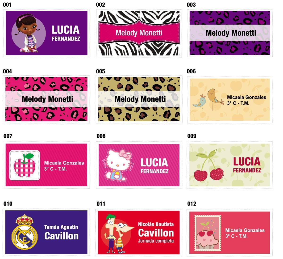 Etiquetas Para Utiles Escolares Personalizadas Imagui Name Tags Project 4 Scrapbook