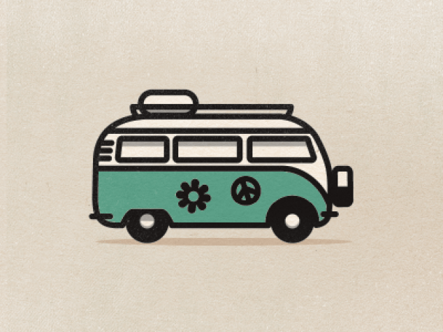 One Of The Icons That Goes In The 70 S Icon Set I Thought This One Was Too Funny Not To Show You Guys Vw Bus Vw Tattoo Hippie Bus