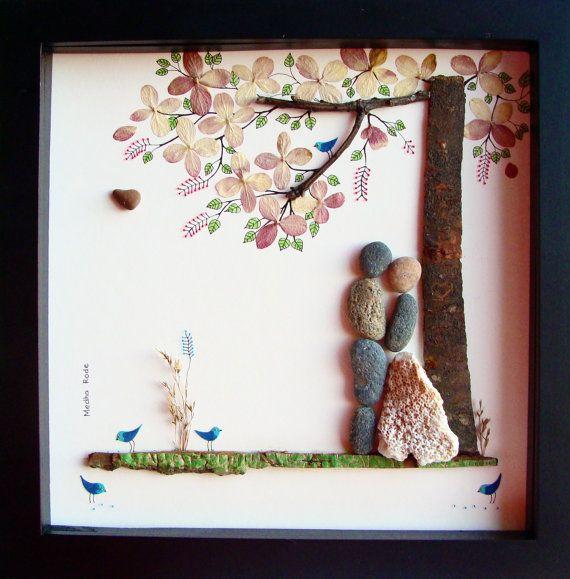 Unique Wedding Gift Personalized Pebble Art For Bride