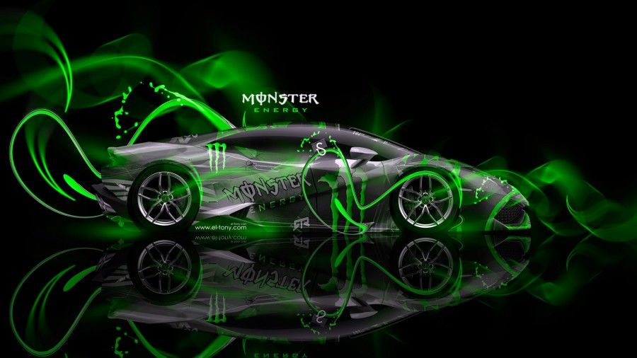 Monster Energy Lamborghini Huracan Plastic Car 2014   Monster Energy Lamborghini  Huracan Tuning Back Plastic Car Energy Lamborghini Huracan Tuning Plastic  ...
