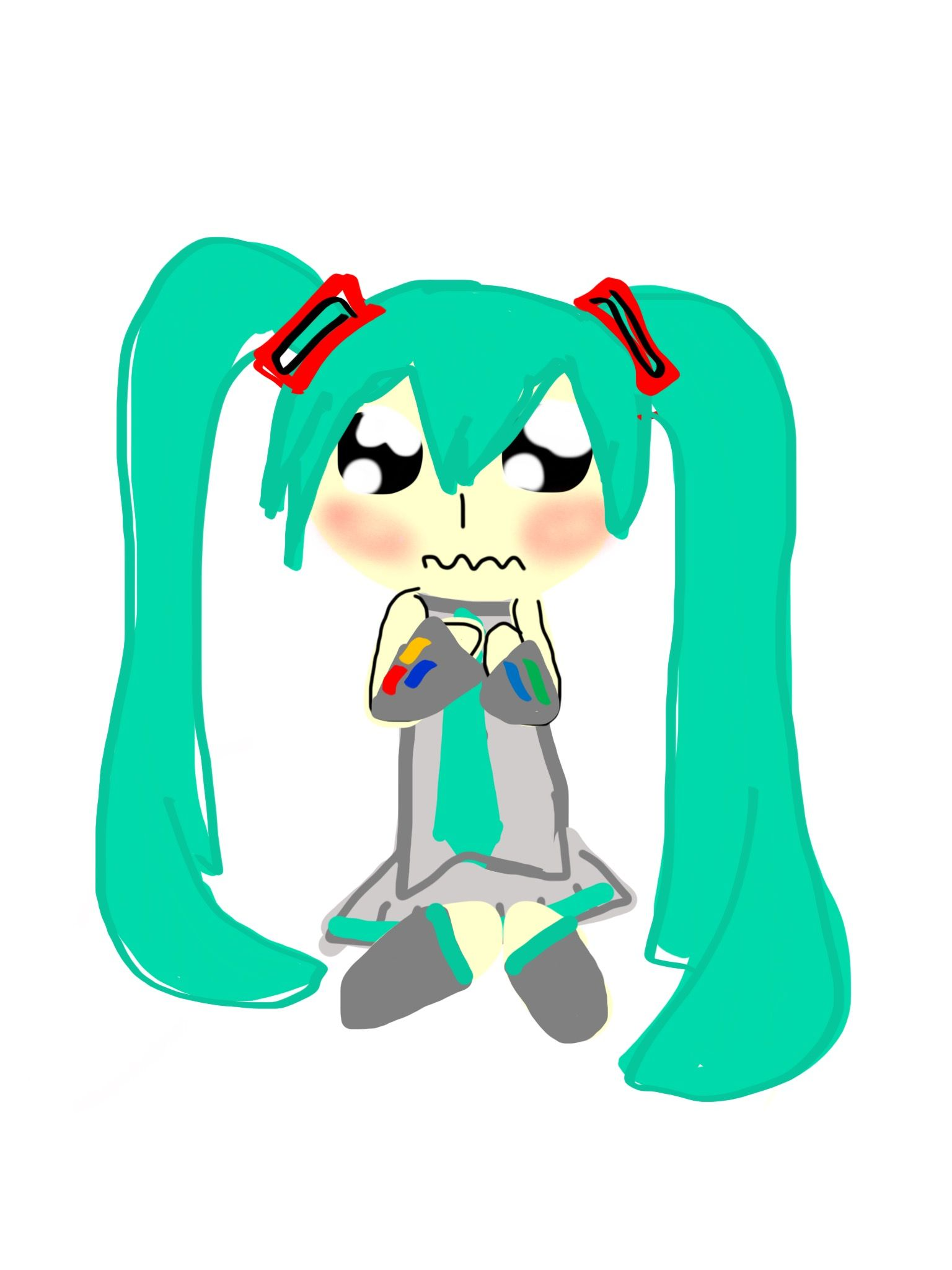 I'm so lonely today... Nobody's on... ((Art by Hatsune
