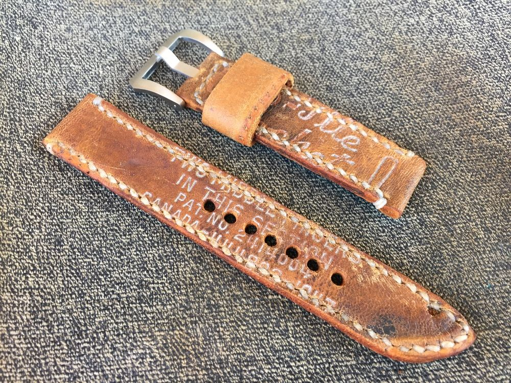 Latest Watch Strap From A Vintage Baseball Glove Preserved Markings And Stamps Sching