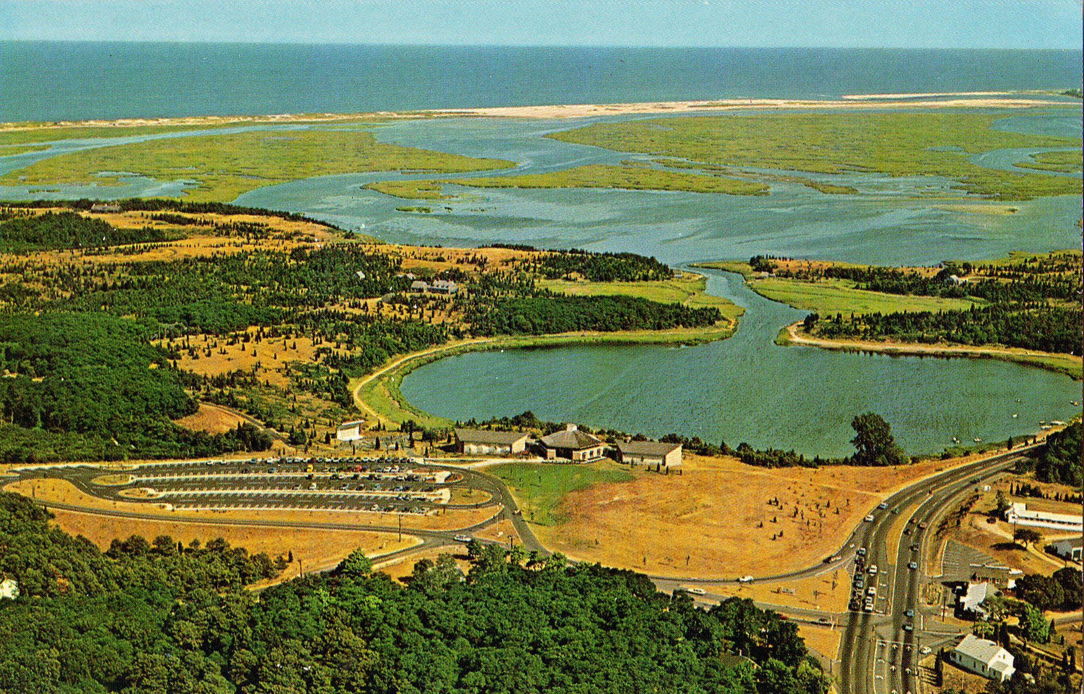 grande remise de 2019 choisir le dernier bonne qualité 1960's Cape Cod National Seashore aerial view of Salt Pond ...