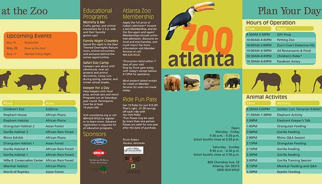 Zoo Atlanta Brochure Redesign Page 1 Brochures