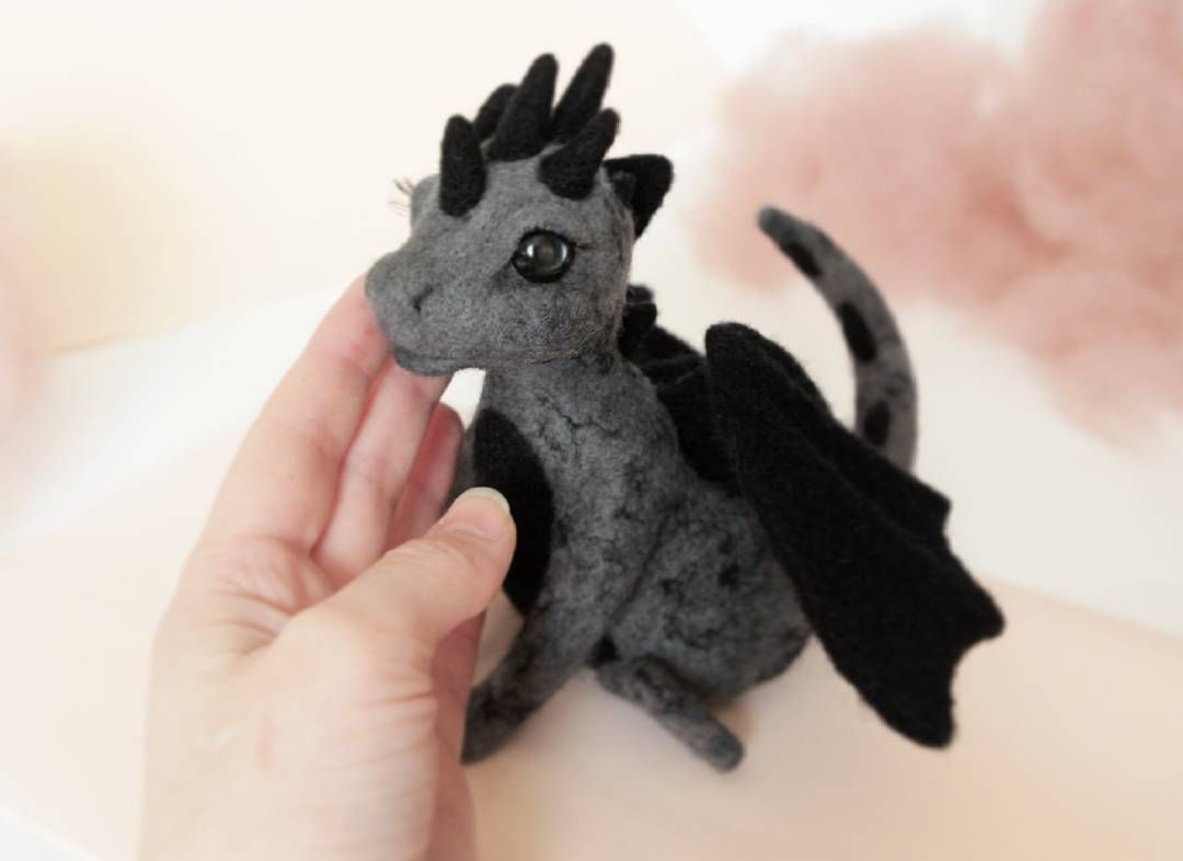Cute woolen dragons #feltdragon