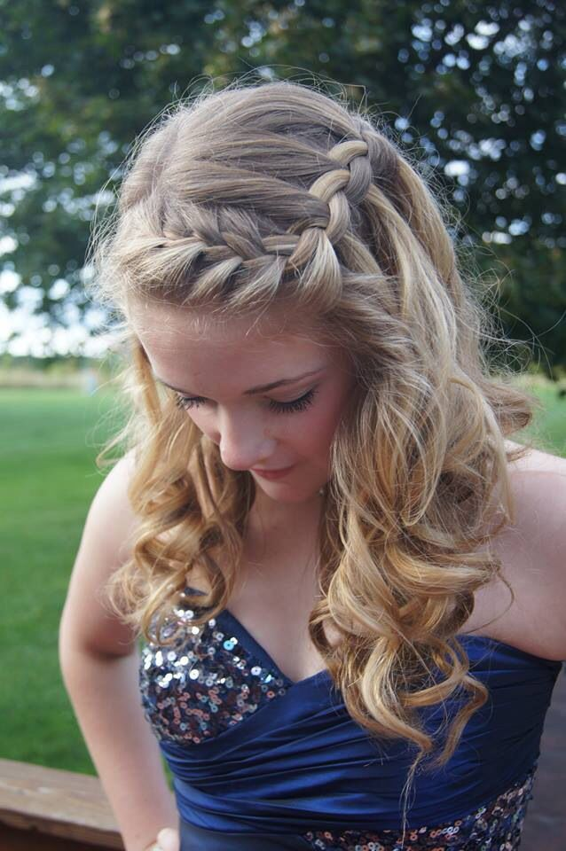 Homecoming Or Prom Hair Dance Hairstyles Grad Hairstyles Hair Inspiration