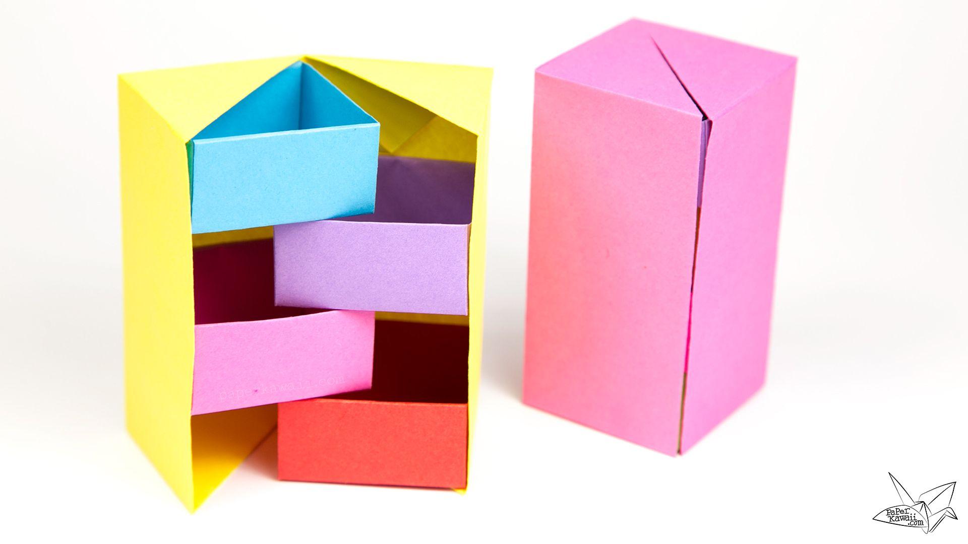 Origami Secret Stepper Box Tutorial | Ideas para ... - photo#38
