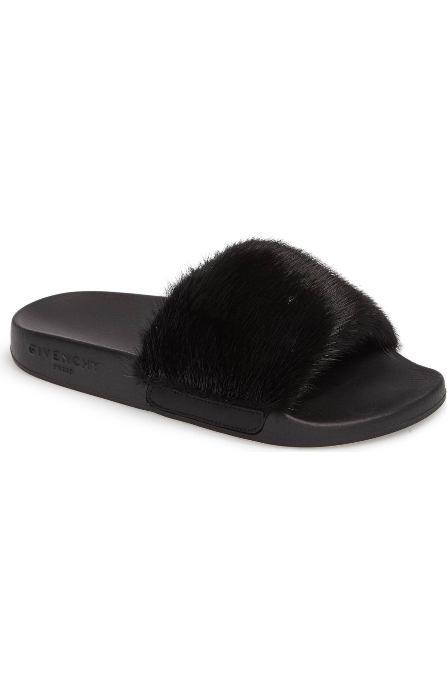 e09a23b2c28 Main Image - Givenchy Genuine Mink Fur Slide Sandal (Women) Sandales À  Glissière
