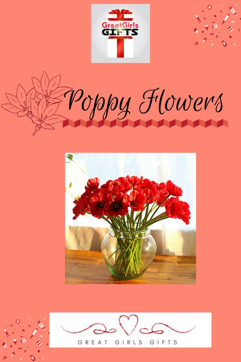 Artificial Poppy Flowers For Wedding Holiday Bridal Bouquet Home