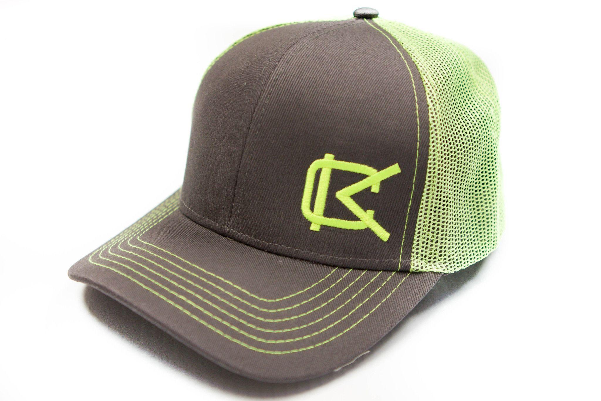 40e1c99098f Grey w  Neon Green CK (Mesh-Snapback)
