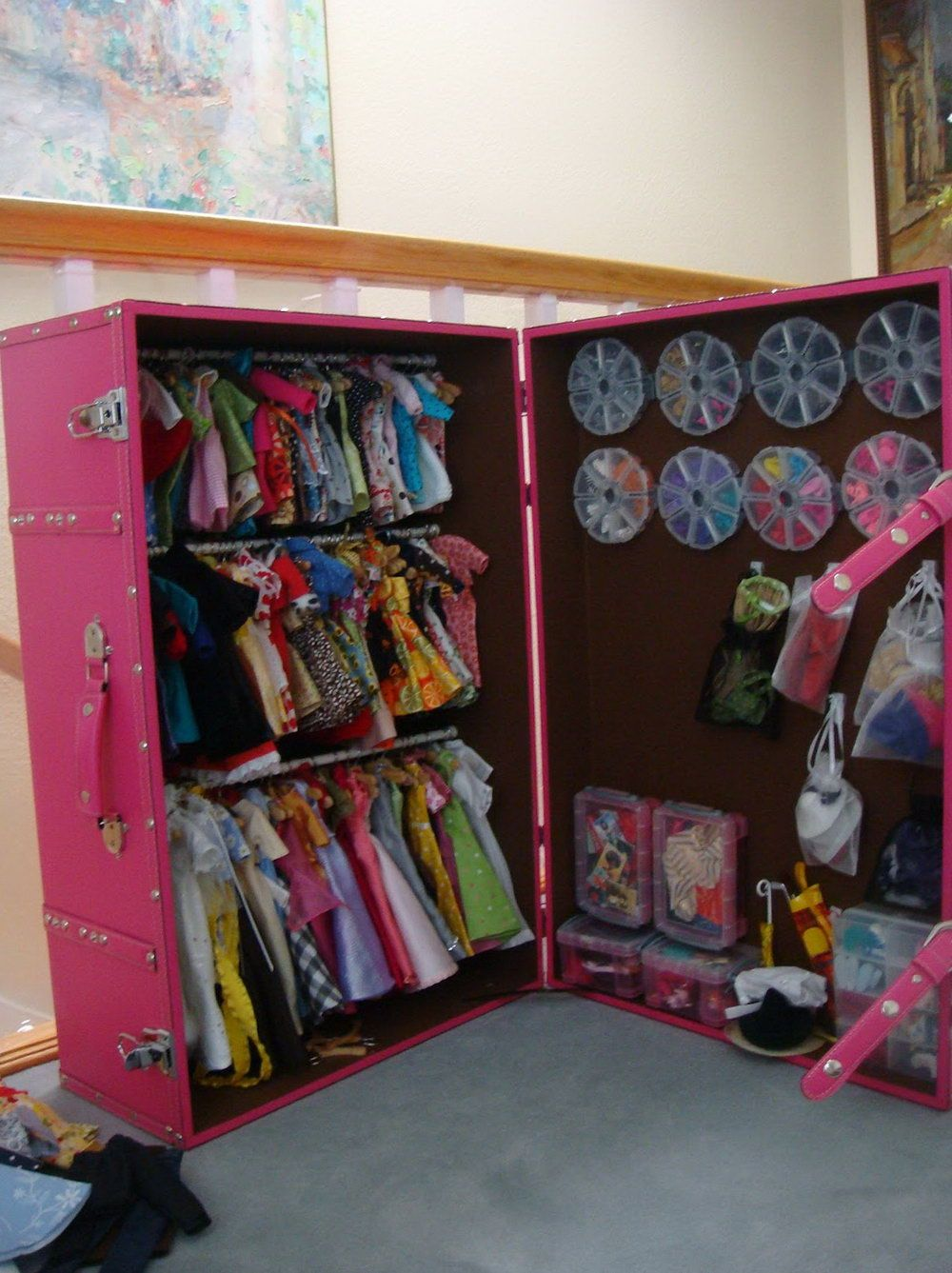 Diy Barbie Clothes Closet Diy Barbie Furniture Diy Barbie Clothes Diy Clothes Storage