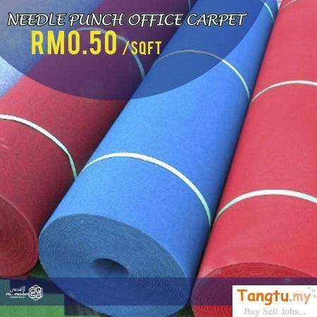 Selangor, Other Services Klang, KARPET PEJABAT MURAH MALAYSIA – NEEDLE PUNCH OFFICE CARPET HARGA MURAH MURAH CUMA DARI RM0.50.
