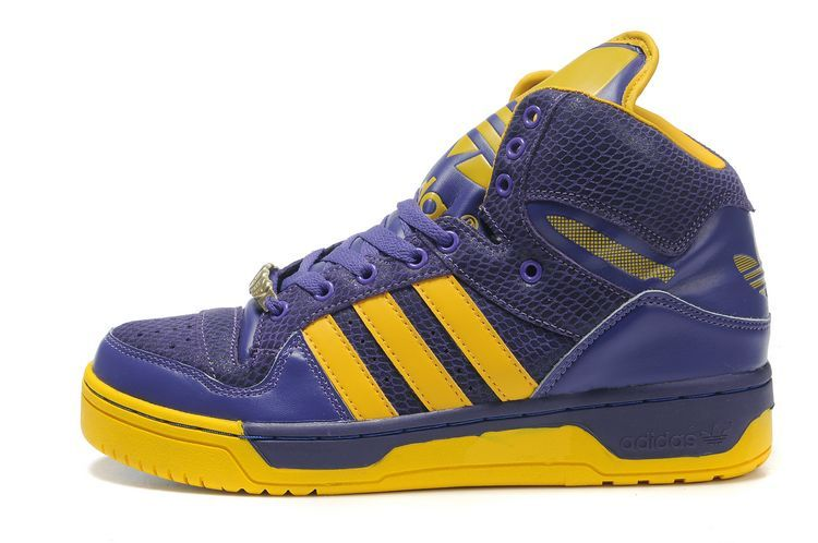 Adidas JS Logo Attitude High Purple Yellow Shoes  c91ffa1a2