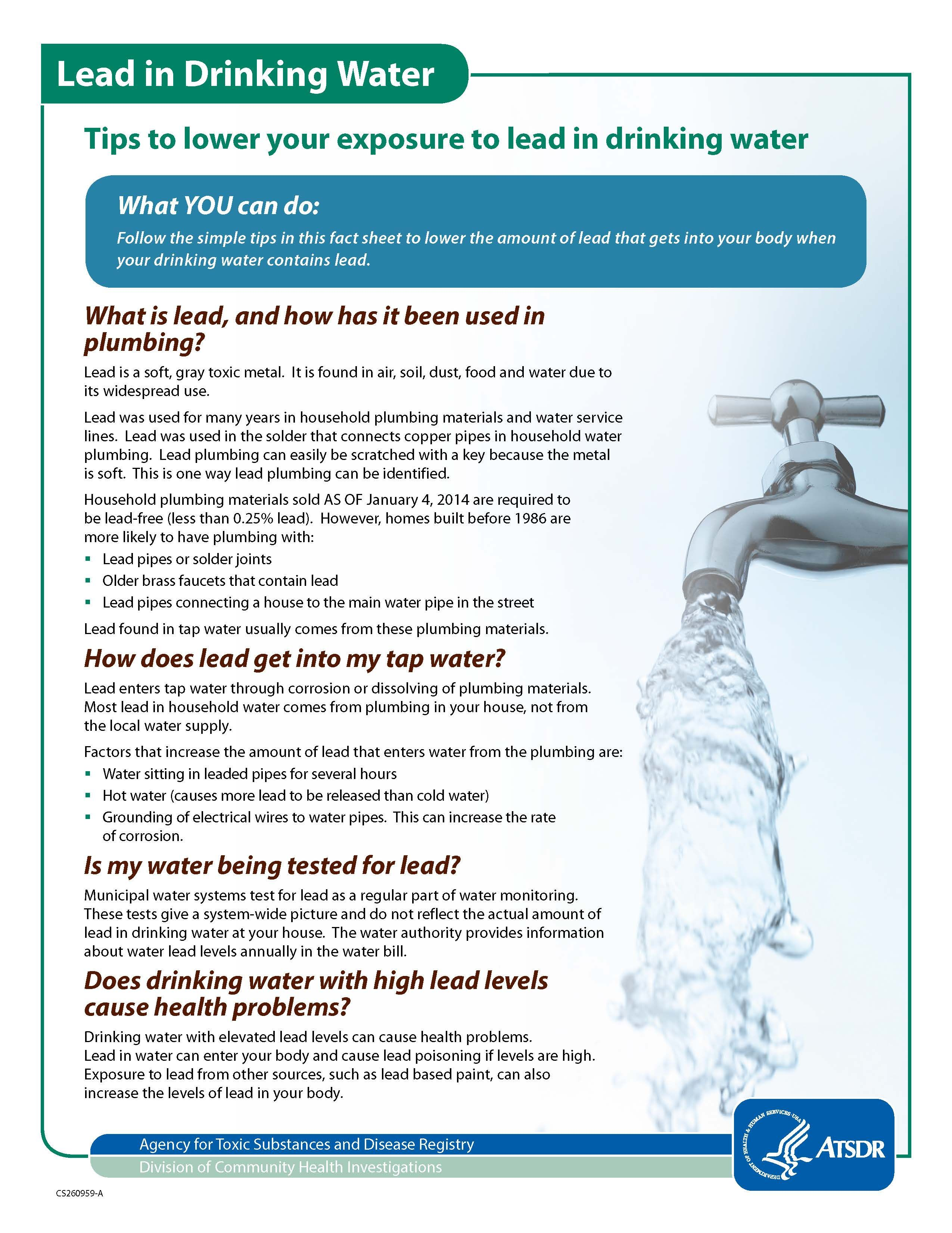 Information on lead in drinking water from atsdr cdc more info information on lead in drinking water from atsdr cdc more info at http nvjuhfo Image collections